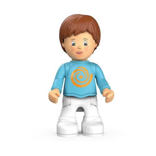 Spielzeugfigur Adam Addy - kleiner Junge mit blauem Shirt